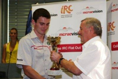 Копецки получил приз Colin McRae IRC Flat Out Trophy