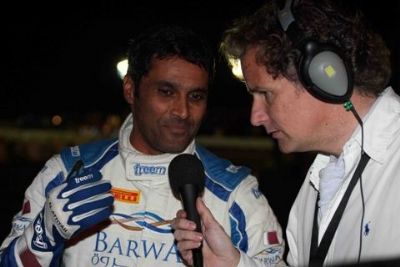 Нассер Аль Аттия на дает интервью после 6 спецучастка ралли Кипра 2010